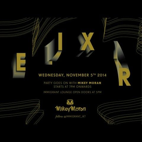 A super midweek party TONIGHT @IMMIGRANT_jkt with DJ @mikeymoran81 dropping whatever makes you dance and a live music with LOGIC Band. My set starts at 12am til 2am, hope to see ya :)