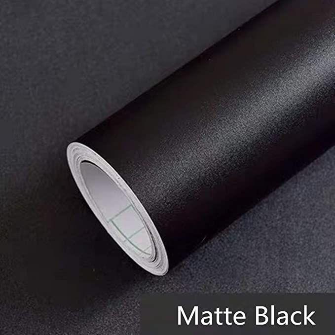 Yancorp Matte Black Wallpaper Plain Contact Paper Vinyl Film Self Adhesive Shelf Liner Drawer Peel St In 2020 Peel And Stick Countertop Shelf Liner Black Contact Paper