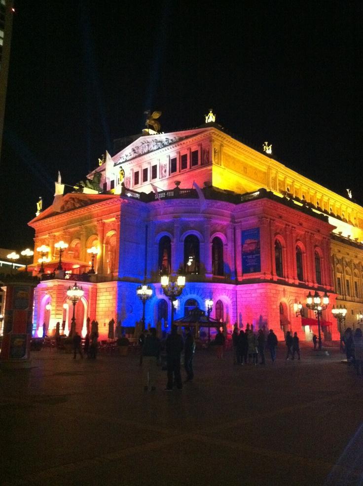 Frankfurt. Alte Oper. Light and Building.