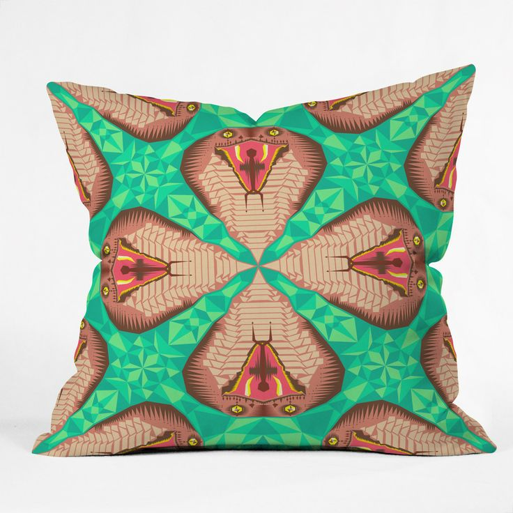 Chobopop Cobra Snake Pattern No 2 Outdoor Throw Pillow | DENY Designs Home Accessories