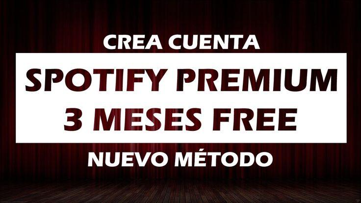 Crear cuenta Spotify Premium 3 meses [Nuevo método 2015]