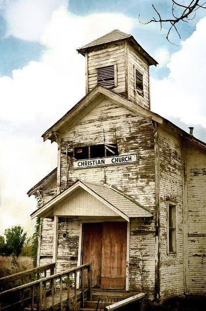 """""""The church buildings that remain have been burned, torn to the ground, or left to crumble into ruins. Your old church still remains. It has fallen into disappear and decay, but it has escaped from vandalism. It still stands tall and proud. It is a beacon of hope, truth, and light to all of us who pass by it."""""""