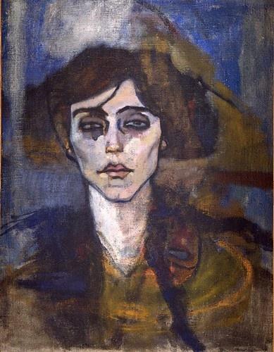 ModiglianiAbrant 1907, Maud Abrant, Amadeo Modigliani, Oil On Canvas, Amedeomodigliani, Art Inspiration, Painters Portraits, Modigliani 1884 1920, Amedeo Modigliani