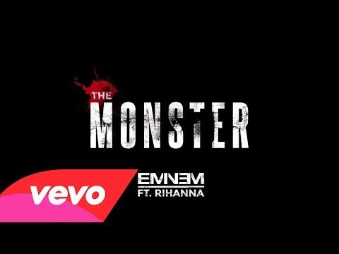 """Eminem - The Monster (Audio) ft. Rihanna - YouTube 3:00 """"It's payback, Russell Wilson falling way back in the draft Turn nothing into something, still can make that, straw into gold chump""""~ Eminem"""