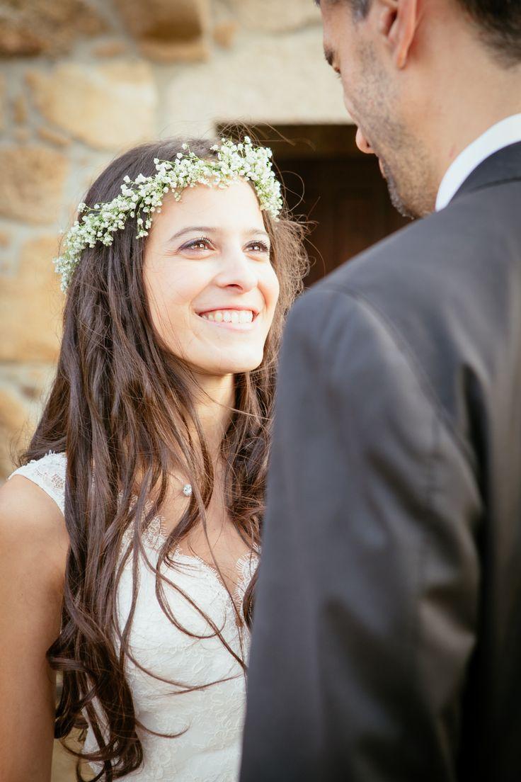 Casamento no Porto. Grinalda de flores para casamento #grinalda #noiva #wedding