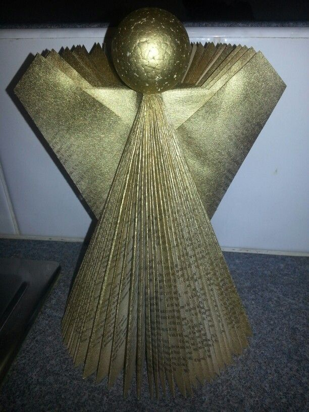 Christmas angel book fold