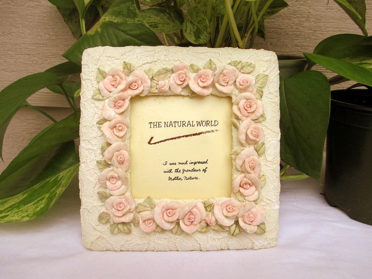 Pink rose Picture Frame,Vintage Cream and Pink Picture Frames,Old Frames,Old Pictures, Shabby Sweet Picture Frames, Old Pink Roses Frame by MyGrandmothersHouse on Etsy