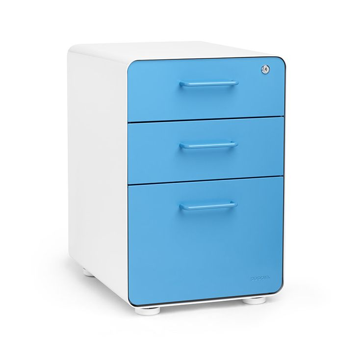 Poppin 3-Drawer File Cabinet