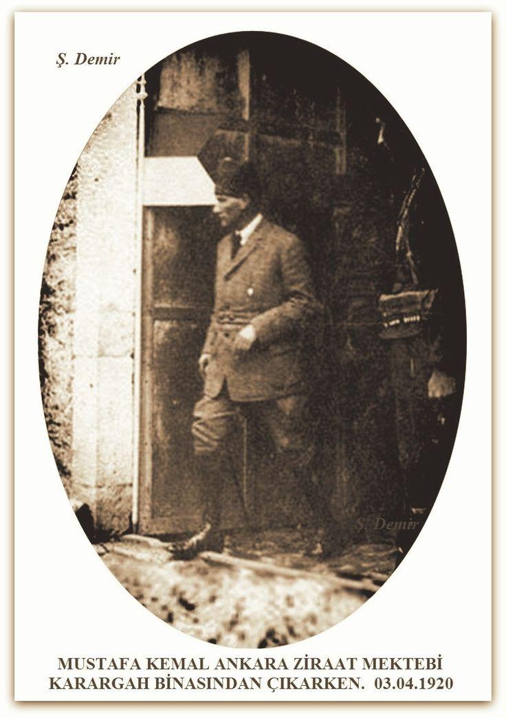 HEYETİ TEMSİLİYE BAŞKANI MUSTAFA KEMAL ANKARA ZİRAAT MEKTEBİ KARARGAH BİNASI. 1920.04.03