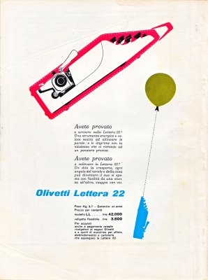 Olivetti advert designed by Giovanni Pintori