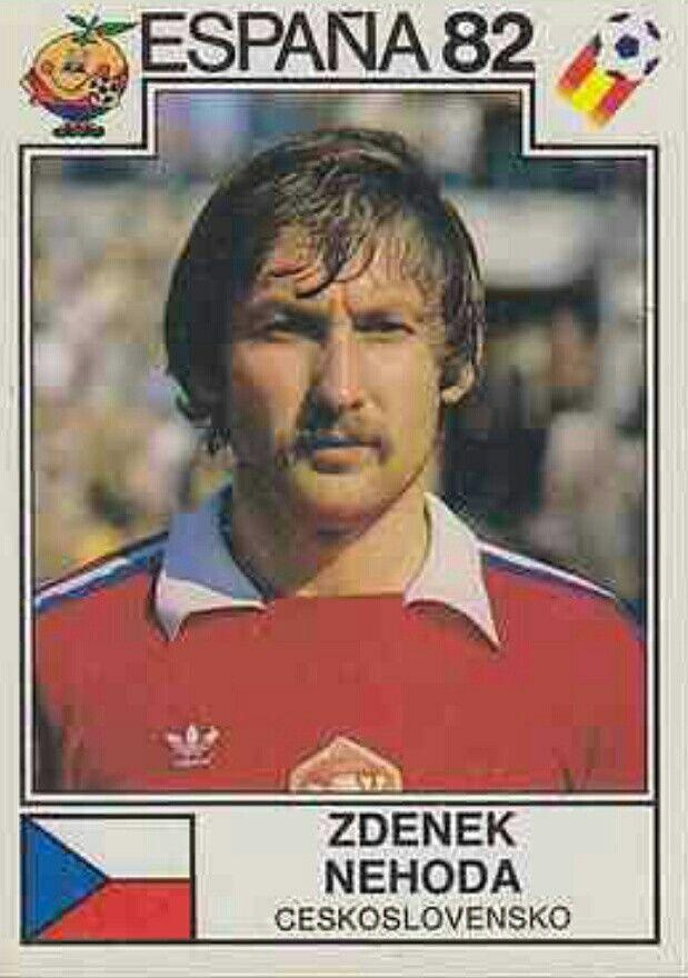 Zdenek Nehoda of Czechoslovakia. 1982 World Cup Finals card.