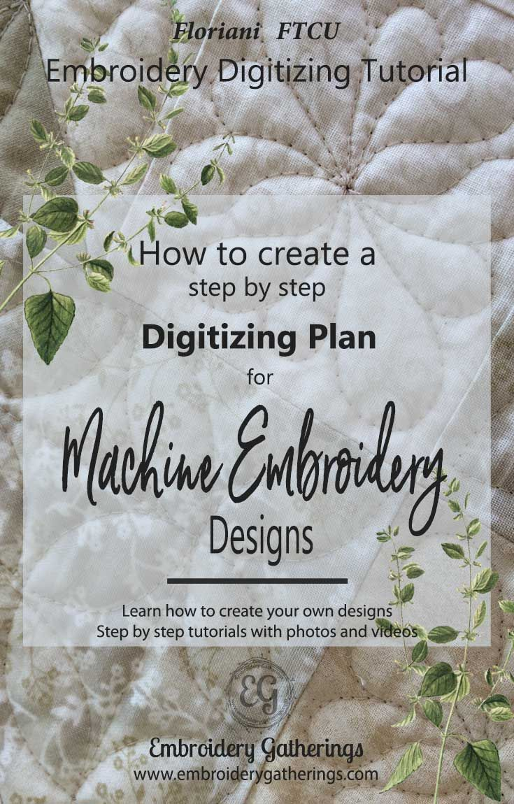 Learn How To Digitize With Floriani Ftcu Embroidery Software Step By Step  Written Lessons With