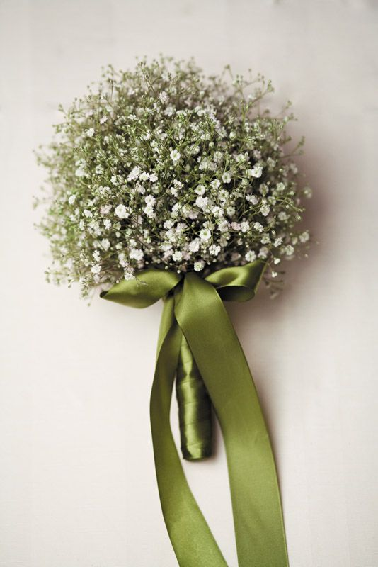Baby's Breath bouquet! Gorgeous Green - Real Weddings