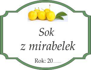 Naklejka na sok z mirabelek