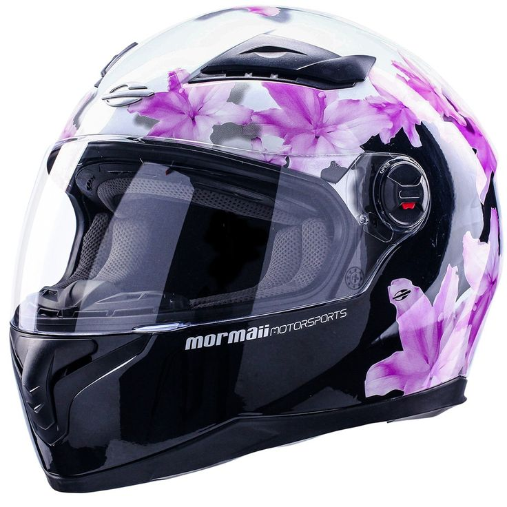 Capacete Mormaii FS811 Wished Preto / Branco Feminino - motopanther