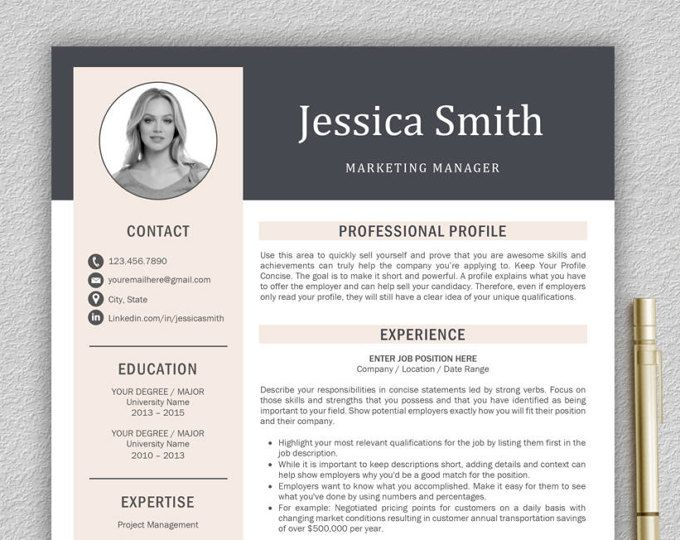 25+ parasta ideaa Pinterestissä Modern cv template - linkedin resume template
