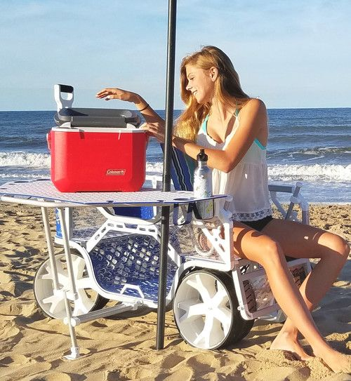 Sport Wagon - a beach cart with a convenient table and seating