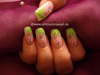 Nail art motivo 206 - Mariposa de fimo para motivo de primavera - http://www.schmucknaegel.de/