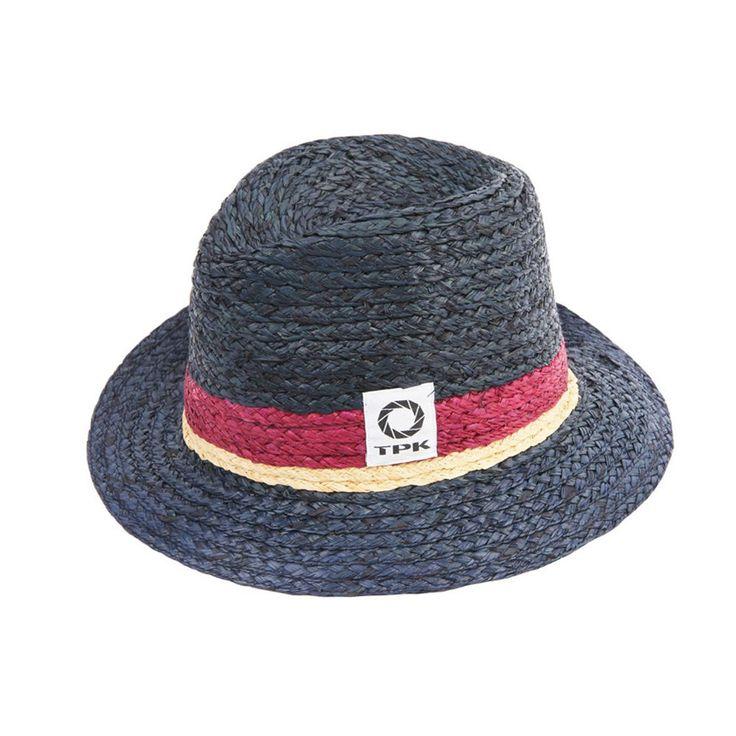 Thomaspaulkay Hat Stripe Fedora Navy #Thomaspaulkay #Fedora