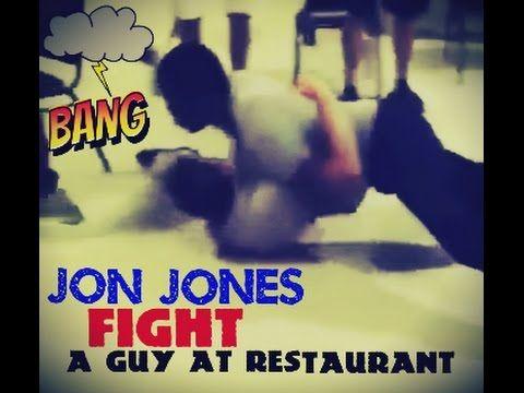 WATCH  UFC Champ Jon Jones FIGHT A Guy At Restaurant