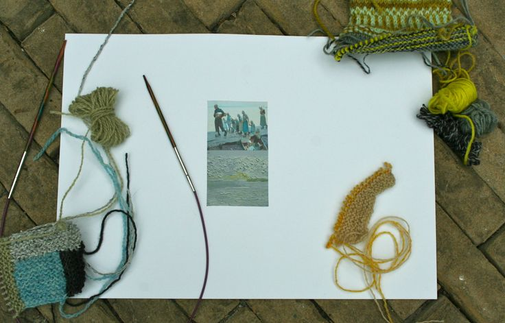 Masterclass knitting 'The Colours of the Zuiderzee' by Loret Karman