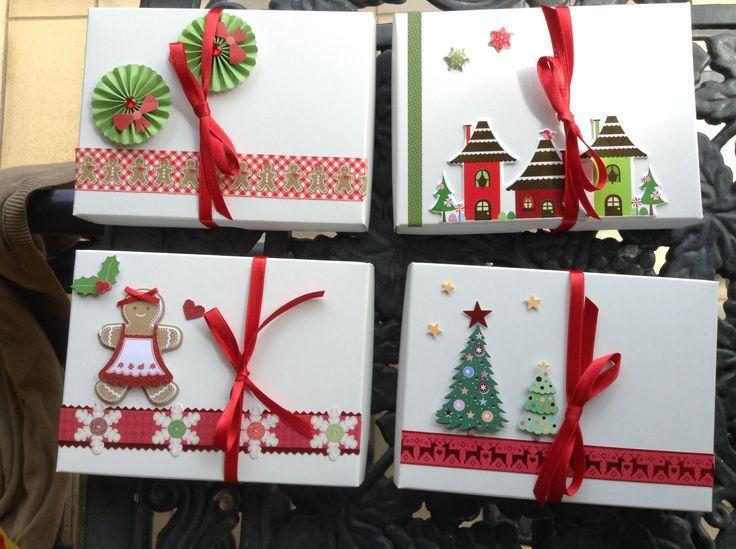 Mas ideas para cajitas de navidad con galletas