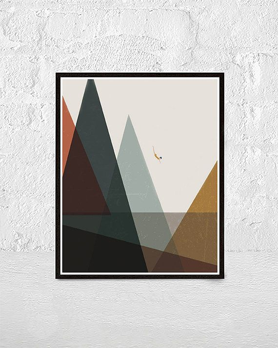 Minimalist abstract art Geometric print by DOLORESxDOROTHY on Etsy