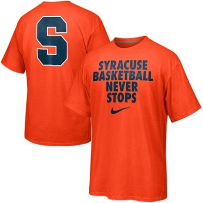 Nike Syracuse Basketball Never Stops T-Shirt.