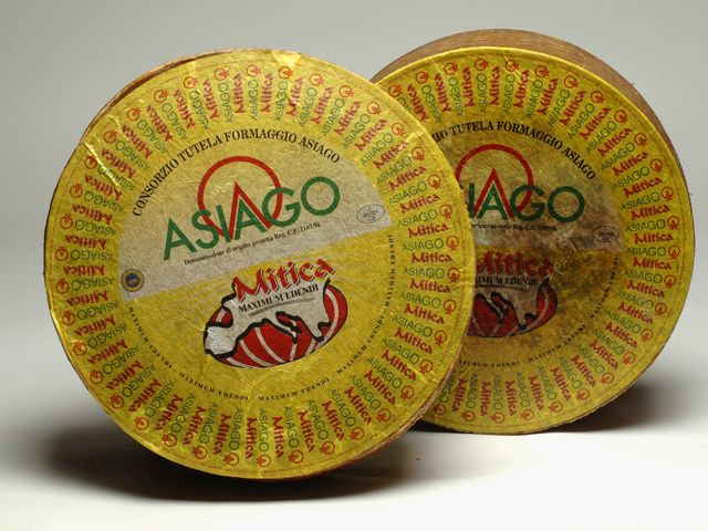 Asiago Fresco Mitica. This 30-40 day aged DOP cow's milk cheese is produced in the provinces of Vicenza, Trento, Padova and Treviso. The cheese is white or straw yellow in color with small to medium sized holes. Its taste is fresh and slightly sweet.