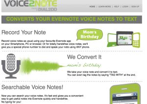 record voice in evernote, convert to text automatically with Voice2Note; Evernote portfolios to post directly to blogs w Postachio & studyblue to turn evernote notes into digital flashcards studyguides and quizzes..use w ipads or web links