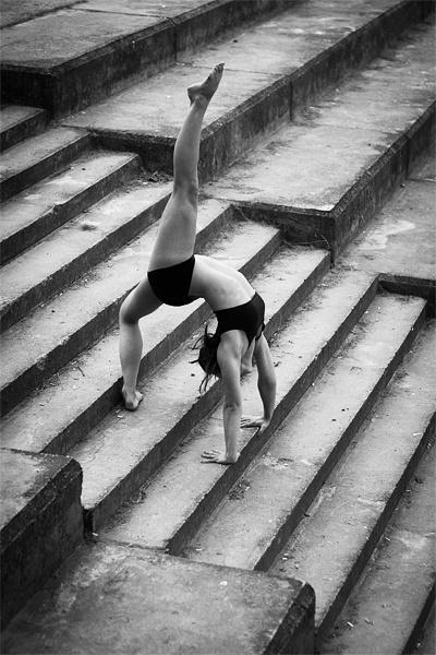 Gymnast. Back Arch.