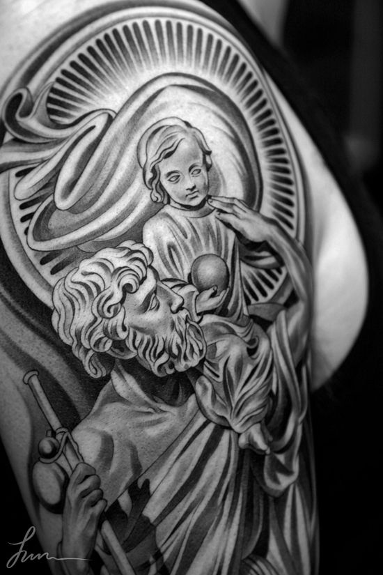 I plan on getting a saint christopher tattoo. Is one is pretty sick.
