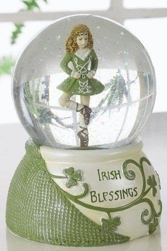 4.25 Luck of the Irish Dancer Girl Irish Blessings Glitterdome
