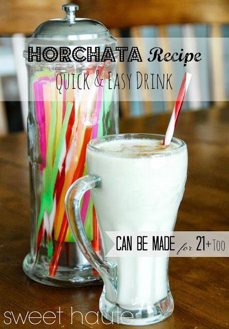 *SWEET HAUTE*: Horchata Drink Recipe {SWEET}