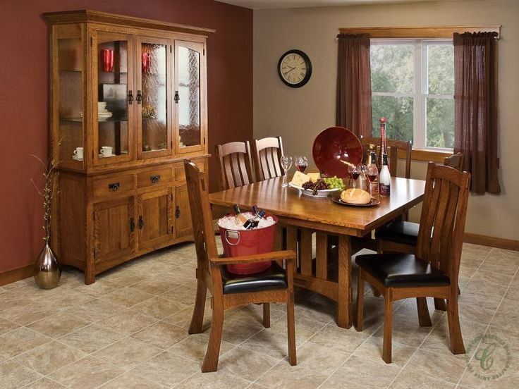 Twelve Amish Handmade Pieces Of Fine Dining Room Solid Wood Furniture Are Available For Your