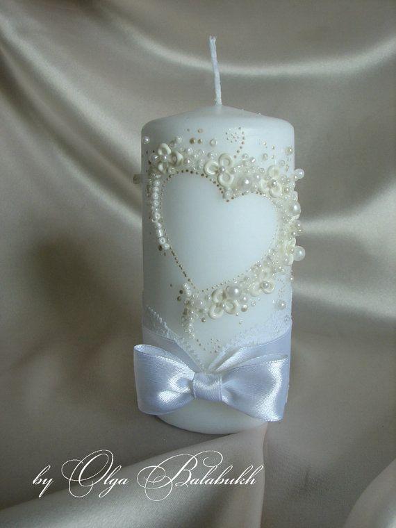 Romantic wedding candle