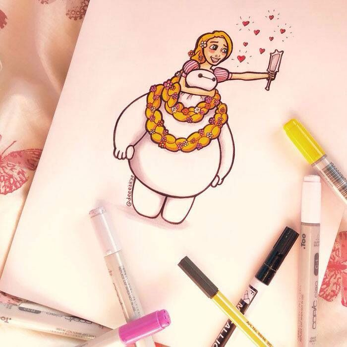 Best Baymax Images On Pinterest Baymax Big Hero And Disney - Baymax imagined famous disney characters