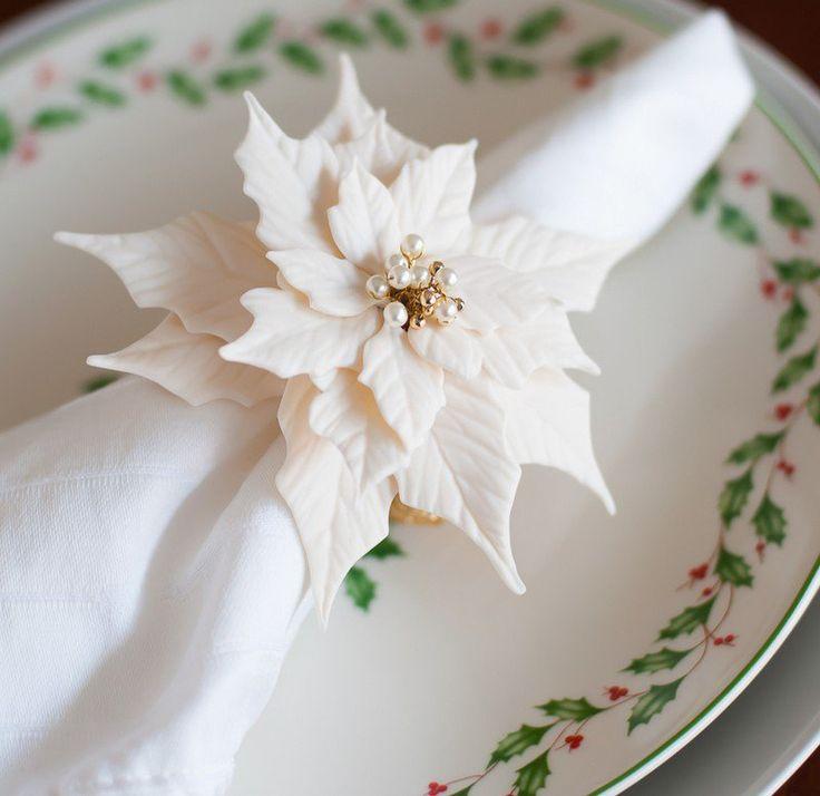 Idées de rond de serviette -dresser la table de Noël avec style ...