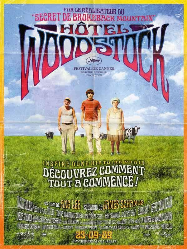 Hôtel Woodstock est un film de Ang Lee avec Emile Hirsch, Demetri Martin. Synopsis : 1969. Elliot, décorateur d'intérieur à Greenwich Village, traverse une mauvaise passe et doit retourner vivre chez ses parents, dans le nord de l'État