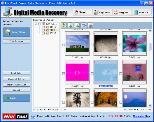 Use picture recovery software to recover lost picture.