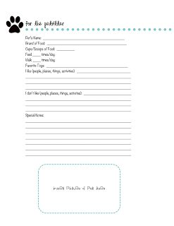 in progress free printable pet sitting pet sitting business
