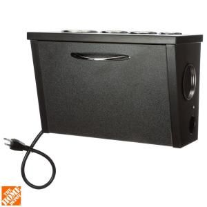 POJJO, Wall Mount Hair Appliance Storage System in Black Laminate, VVB-L-BK at The Home Depot - Mobile