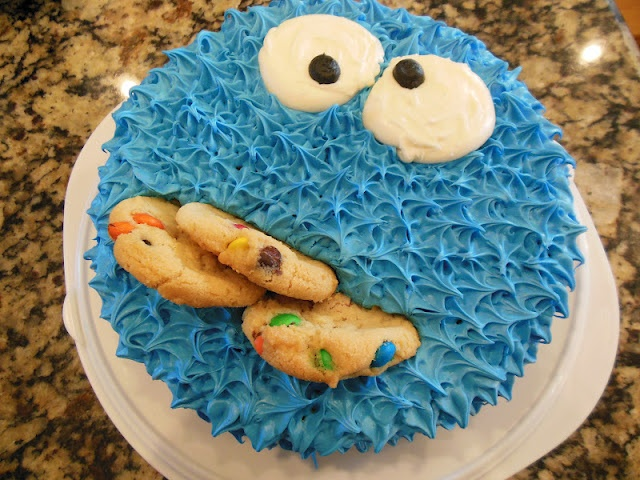 17 Best Ideas About Cookie Monster Cakes On Pinterest