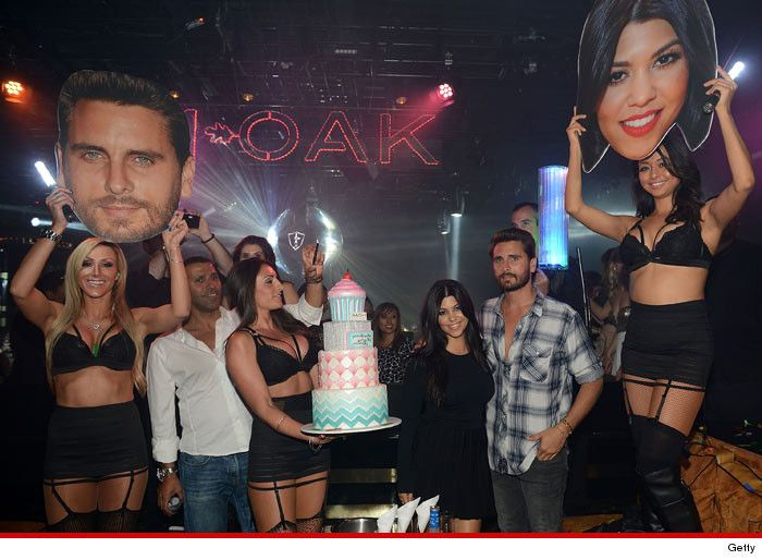http://pinterest.com/pin/7248049377018573/ Kourtney Kardashian Frowny Faced Scott Disick Front and Center for BD Bash