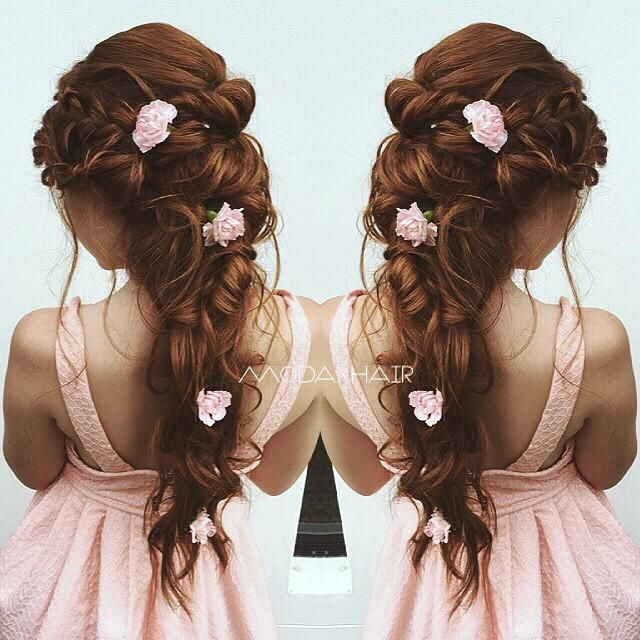 Bridal Hairstyles For Long Hair With Flowers : Best 25 junior bridesmaid hairstyles ideas on pinterest curly