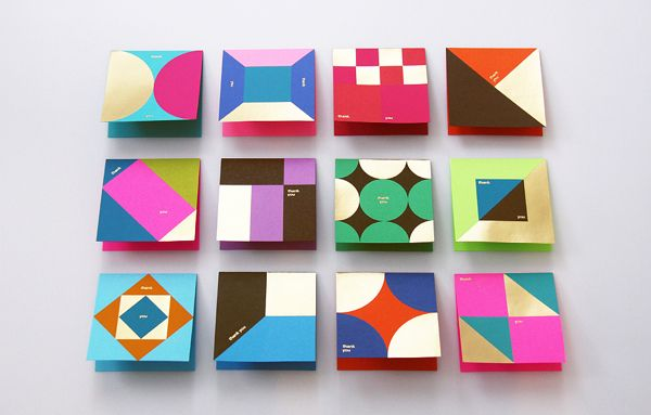 Astrobrights Thank You Card by Ken Lo, via Behance