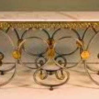 Marvelous Antique Marble Topped French Pastry Shop Table   Glorious!