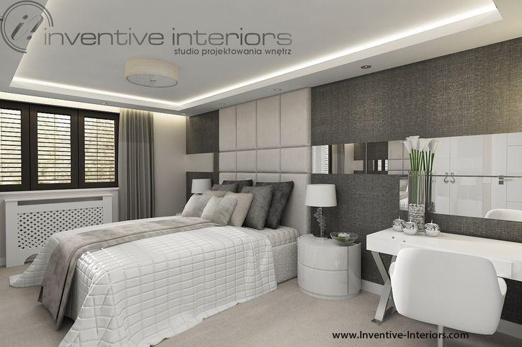 Projekt sypialni Inventive Interiors - przytulna elegancka sypialnia