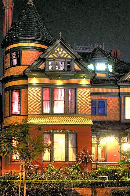 Old Victorian House - (Britt Scripps house) San Diego, California by Michael in San Diego, California, via Flickr