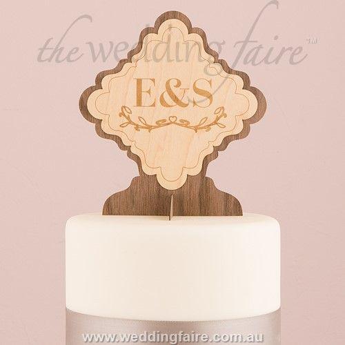 Personalised Wood Veneer Sign | Cake Topper - The Wedding Faire